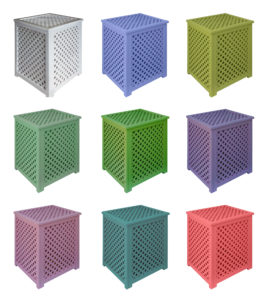 Variants of processing of wooden lattice boxes Painting acrylic