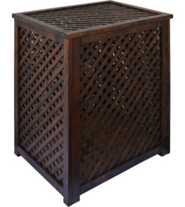 Variants of processing of wooden lattice boxes Tinting acrylic