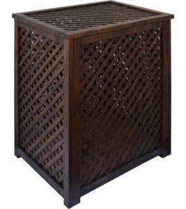 Варианты отделки деревянных решетчатых ящиков Тонировка