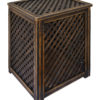 Variants of processing of wooden lattice boxes Vintage