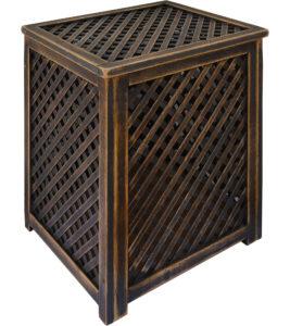 Варианты отделки деревянных решетчатых ящиков Прованс