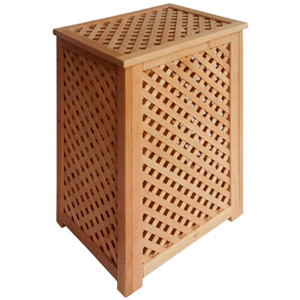 Wooden lattice storage boxes