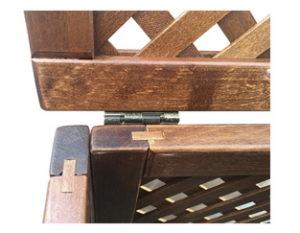 Особенности деревянных решетчатых ящиков Петля с фиксатором